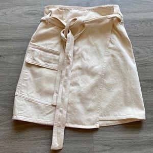 H&M White Jean Wrap Skirt